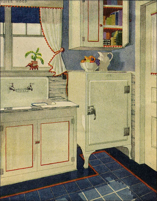 17 Best images about 1920s Kitchen – 1920s Kitchens