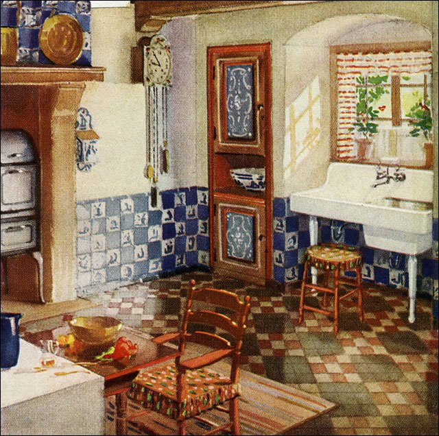 Incredible Kitchen Tile Styles in the 1920s 640 x 636 · 150 kB · jpeg