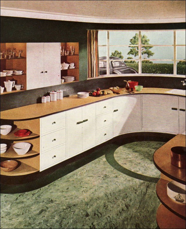 Cool Art Deco Kitchen Cabinets: Transition From Arts & Crafts To Art Deco?
