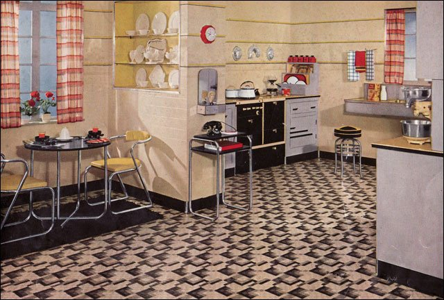 Kitchen inspiration from the 1930s 1935 kitchen interior for Modern kitchen in 1930s house