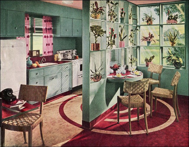 1936 vintage kitchen inspiration by armstrong linoleum for 1930s style kitchen design