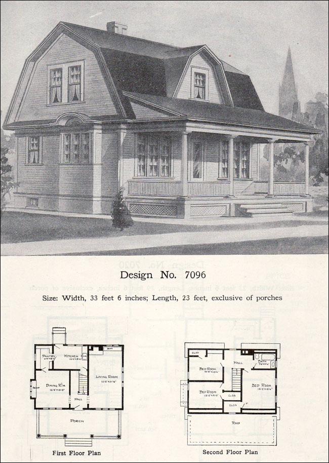 William A Radford 1908 House Plans Dutch Colonial