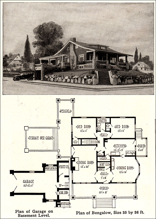1915 Cozy Bungalow - Vintage Plan with Garage - Wm. A ... Radford Home Floor Plans Antique on open ranch floor plans, sci-fi home plans, antique home windows, antique home features, cliff may homes floor plans, waterfront floor plans, townhouse floor plans, mexican small house floor plans, condo floor plans, small cottage floor plans, vintage floor plans, antique home color schemes, antique home architecture, antique house drawings, aladdin homes floor plans, patio home plans, antique home kitchen, antique house plans, antique home remodeling,