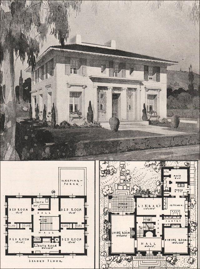 Italian renaissance style house francis pierpont davis for City house plans