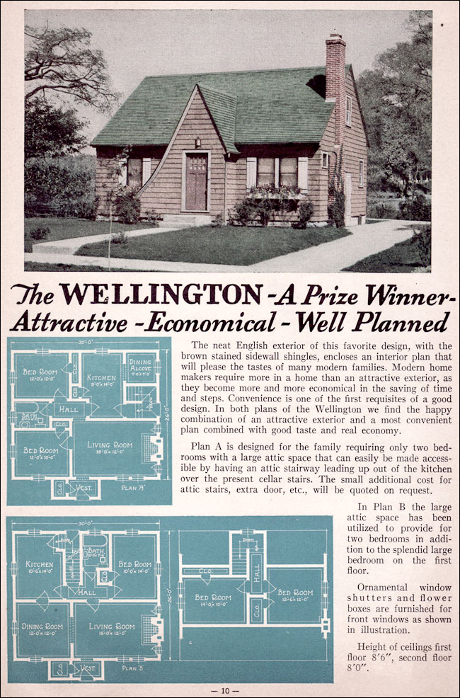 The Wellington Modest English Cottage Style Of The 1930s
