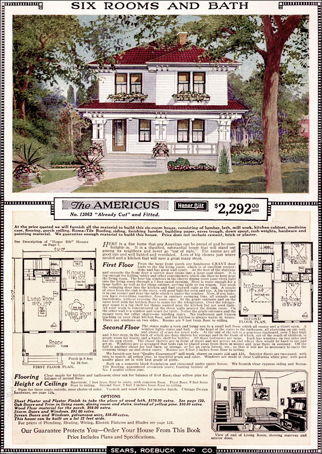 Americus 1923 Sears Kit Homes Artistic Eclectic