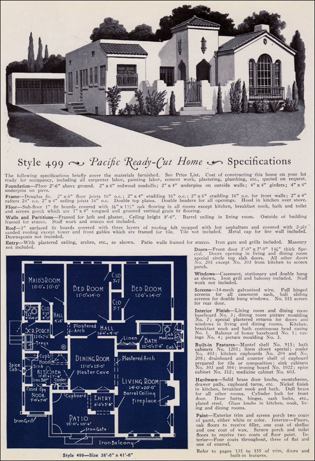 Pacific Ready Cut Homes California Spanish Eclectic Revival