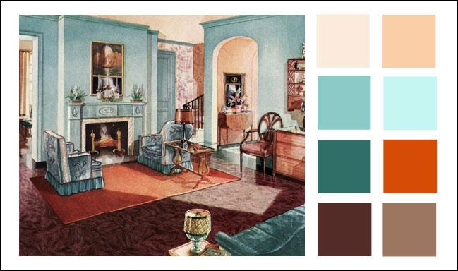 Vintage Color Schemes Kitchen