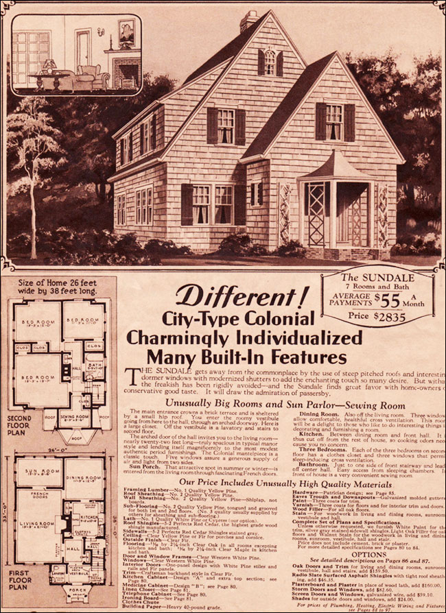 1930 Sundale Montgomery Ward Eclectic Colonial