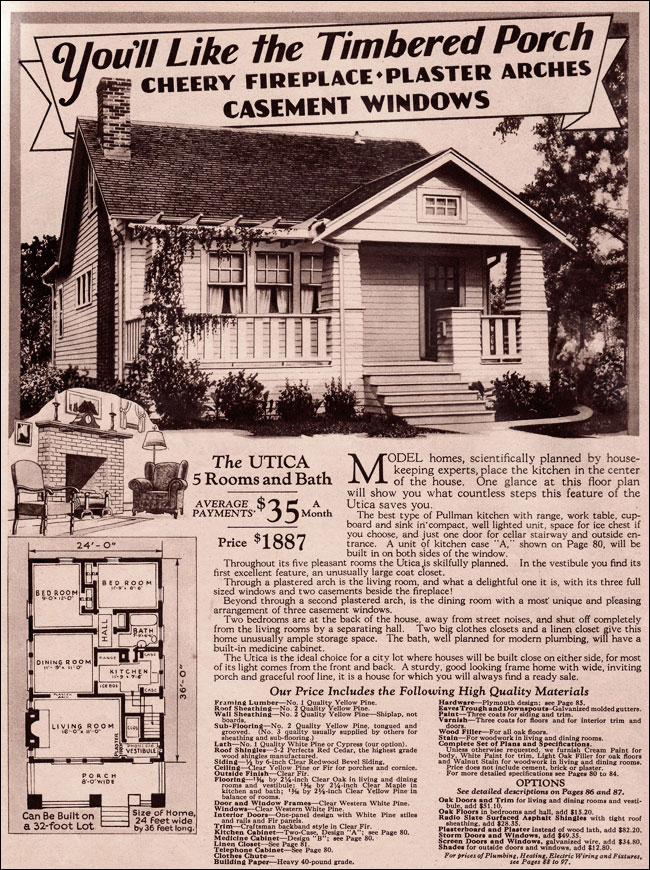 Montgomery Ward 1930 Modern Bungalow Utica