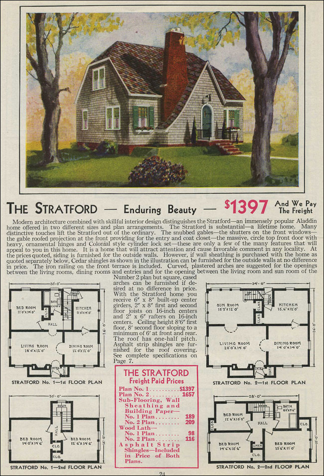 English Cottage Catslide Gable 1931 Stratford