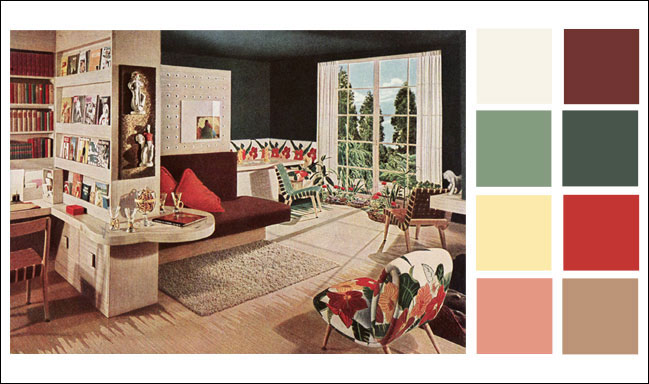 Mid Century Modern Color Schemes 1946 Armstrong